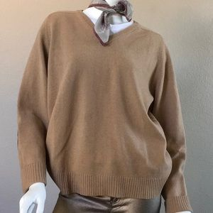 Oversized  Elbow Patch Wool Sweater